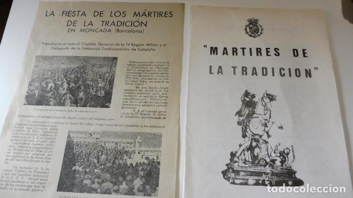 Militaria: CARLISMO PROPAGANDA MECANOGRAFIADA MARTIRES DE LA TRADICION - FIESTA DE LOS MARTIRES EN MONCADA - Foto 3 - 87042916