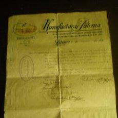 Militaria: CERTIFICADO DE TRABAJO, GUERRA CIVIL, CONTROL OBRERO CNT - UGT SOBRE FACTURA, PATERNA VALENCIA, 1937. Lote 87691444