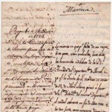 Militaria: OFICIO DE COMUNICACIÓN MARINA - FERROL 1824 - PAGOS A LA MARINA PEDIDOS A BURGOS. Lote 88181092