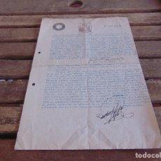 Militaria: DOCUMENTO FALANGE ESPAÑOLA DE LA JONS RECONOCIENDO MERITOS DE FALANGISTA. Lote 89044852