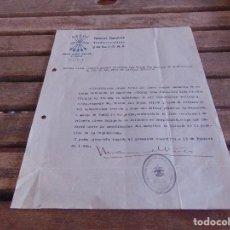 Militaria: DOCUMENTO FALANGE ESPAÑOLA DE LA JONS HERIDO GUERRA CIVIL. Lote 89045344