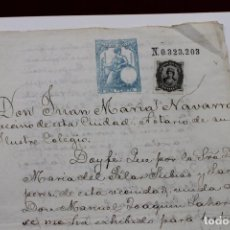 Militaria: REGIMIENTO INFANTERIA SAN FERNANDO 11º DE LINEA, PERMISO DE BODA, SEVILLA 1876. Lote 89077628