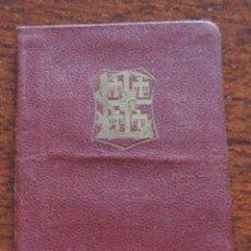 Militaria: CARNET DEL CENTRO ESCOLAR VALLISOLETANO DE MARIA INMACCULADA, CARNET DE IDENTIDAD AÑO 1924, MIDE 10,. Lote 89097188
