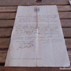 Militaria: DOCUMENTO MILITAR CONCEDO LICENCIA ABSOLUTA FUE ALISTADO REEMPLAZO 1926 OCTUBRE 1944. Lote 89763716