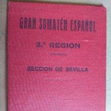 Militaria: CARTERA IDENTIDAD GRAN SOMATEN ESPAÑOL 2ª REGION SEVILLA, CON LICENCIA USO DE ARMAS.. Lote 89860100