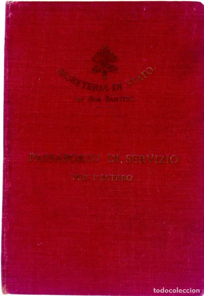PASAPORTE VATICANO,SANTA SEDE,SECRETARIA DEL PAPA,AÑO 1941, SELLOS EJERCITO ALEMAN,II GUERRA MUNDIAL (Militar - Propaganda y Documentos)