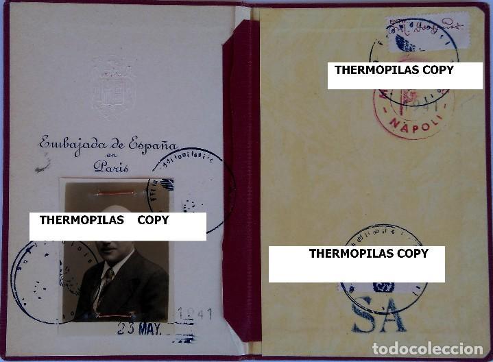 Militaria: PASAPORTE VATICANO,SANTA SEDE,SECRETARIA DEL PAPA,AÑO 1941, SELLOS EJERCITO ALEMAN,II GUERRA MUNDIAL - Foto 3 - 90367836