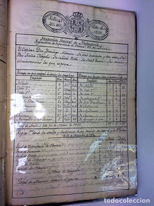 Militaria: GRAN FONDO DOCUMENTAL DE LA SAGA MILITAR ALDANESE. ANDRÉS, DOMINGO, DOMINGO M. ESPAÑA. 1757-1900 - Foto 7 - 90541385