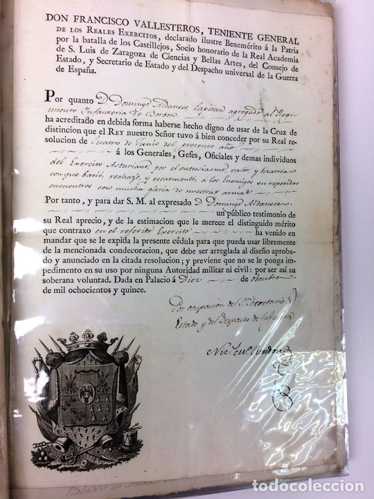 Militaria: GRAN FONDO DOCUMENTAL DE LA SAGA MILITAR ALDANESE. ANDRÉS, DOMINGO, DOMINGO M. ESPAÑA. 1757-1900 - Foto 27 - 90541385
