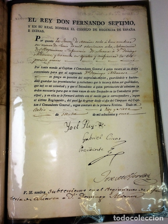 Militaria: GRAN FONDO DOCUMENTAL DE LA SAGA MILITAR ALDANESE. ANDRÉS, DOMINGO, DOMINGO M. ESPAÑA. 1757-1900 - Foto 38 - 90541385