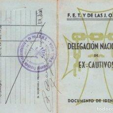 Militaria: LOTEJERZ2 CARNET EX-CAUTIVOS DELAGACION NACIONAL DOCUMENTO DE IDENTIDAD BANDO NACIONAL. Lote 91811650