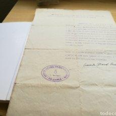 Militaria: DOCUMENTO GRUPO DE ARTILLERÍA ANTIAÉREA INDEPENDIENTE DE BALEARES. 1940. SELLADO. Lote 92019924