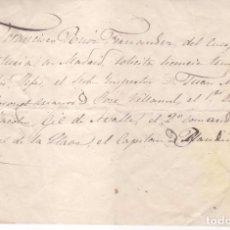 Militaria: DOCUMENTO MILITAR MADRID 1820 - 1860 APROXIMADAMENTE. Lote 92904805