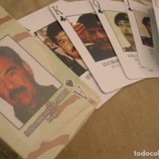 Militaria: BARAJA AMERICANA DE LA GUERRA DEL GOLFO. SADAM HUSSEIM. COMPLETA SIN USAR.. Lote 93596780