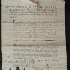 Militaria: 1829 INVALIDEZ TENIENTE DE LÍNEA DE SORIA, DE VALLS, GUERRAS 1793 FRANCIA, PORTUGAL, MENORCA GERONA.. Lote 93657355