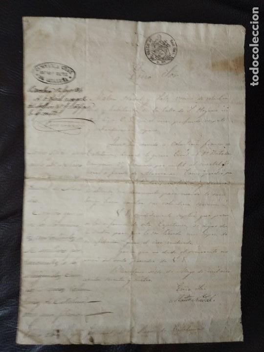 1864 CERTIFICACIÓNSOLDADO DETALLE BATALLAS 1ª GUERRA CARLISTA VOLUNTARIOS FRANCOS CATALUÑA 1835-1838 (Militar - Propaganda y Documentos)