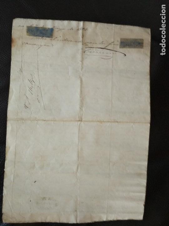 Militaria: 1864 certificaciónsoldado detalle BATALLAS 1ª Guerra Carlista VOLUNTARIOS FRANCOS CATALUÑA 1835-1838 - Foto 4 - 93661445