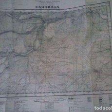 Militaria: MAPA TOPOGRÁFICO MILITAR CAMARASA 1938. Lote 93887880