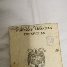 Militaria: 21-CARTILLA FUERZAS ARMADAS ESPAÑOLAS, 1977-78. Lote 95058083