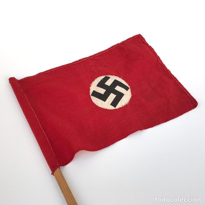 BANDERA NAZI TERCER REICH (PROPAGANDÍSTICA). ORIGINAL. (Militar - Propaganda y Documentos)