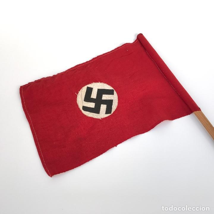 Militaria: Bandera Nazi Tercer Reich (propagandística). Original. - Foto 3 - 144679014