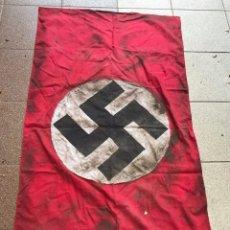 Militaria: GRANDE BANDERA DE TERCER REICH , NSDAP . SUPER RARO !ORGINAL INCREDIBLE EJEMPLO FIRMA VENDO OTRA VEZ. Lote 98727918