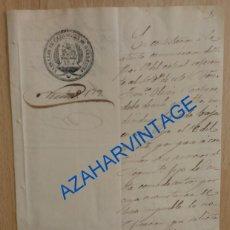 Militaria: BARBASTRO, 1857, CARTA DEL BATALLON DE CAZADORES NUM.4 SOBRE UN DESERTOR. Lote 95303655