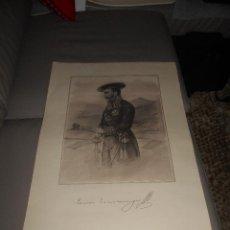 Militaria: RETRATO DE TOMAS ZUMALACARREGUI. 62,5 X 44,5 CM. LABORDE Y LABAYEN. ILUSTRADOR OÑATIVIA.. Lote 95781759