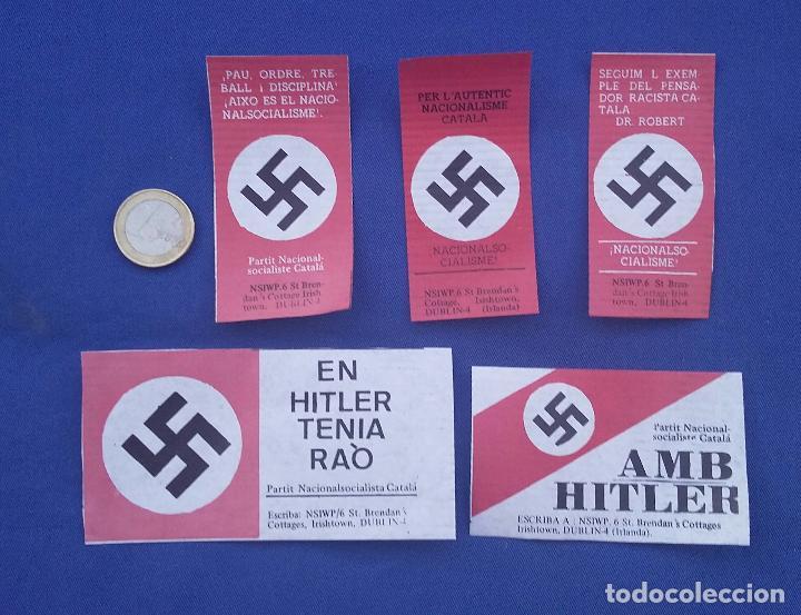PEGATINAS NAZIS AL AGUA. EDITADAS POR CEDADE EN LOS AÑOS 70- EN CATALAN (Militar - Propaganda y Documentos)
