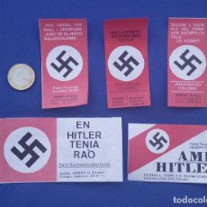 Militaria: PEGATINAS NAZIS AL AGUA. EDITADAS POR CEDADE EN LOS AÑOS 70- EN CATALAN. Lote 96465675