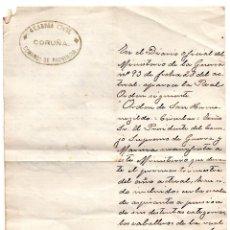 Militaria: OFICIO REAL Y MILITAR ORDEN DE SAN HERMENEGILDO 1916 - GUARDIA CIVIL CORUÑA 1914. Lote 96538547