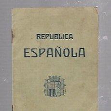 Militaria: PASAPORTE. REPUBLICA ESPAÑOLA. 1937. SELLOS. VER FOTOS. Lote 96583203