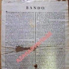 Militaria - SEVILLA, 1808, GUERRA DE LA INDEPENDENCIA, BANDO JUNTA SUPREMA ,ALISTAMIENTO, UNICO - 96618907