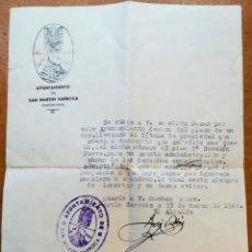Militaria: MOSSOS D'ESQUADRA,DOCUMENTO SUB-CABO CARGO DE ALCALDE,MUERTO GUERRA CIVIL ESPAÑOLA,POLICIA CATALUNYA. Lote 96731387