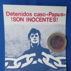 Militaria: PEGATINA CASO PAPUS EXTREMA DERECHA EDITADA ,AÑOS 70. . Lote 96804991