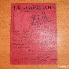 Militaria: LOTE DOCUMENTOS FALANGE DE CASTUERA. Lote 96847171