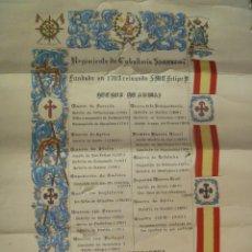 Militaria: DIPLOMA DECORATIVO DEL REGIMIENTO DE CABALLERIA SAGUNTO Nº 7. Lote 195218013