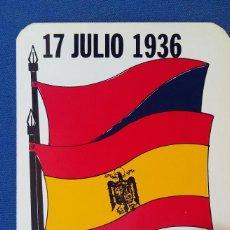 Militaria: PEGATINA 17 DE JULIO 1936 MELILLA LA ADELANTADA. EDITADA EN LOS AÑOS 70 . Lote 96882899