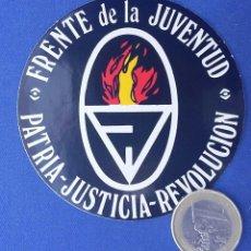 Militaria: PEGATINA FRENTE DE LA JUVENTUD. EDITADA EN LOS AÑOS 70.. Lote 97172247