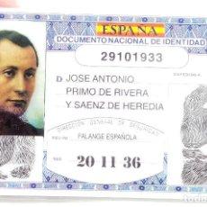 Militaria: DNI JOSE ANTONIO PRIMO DE RIVERA. Lote 208462666