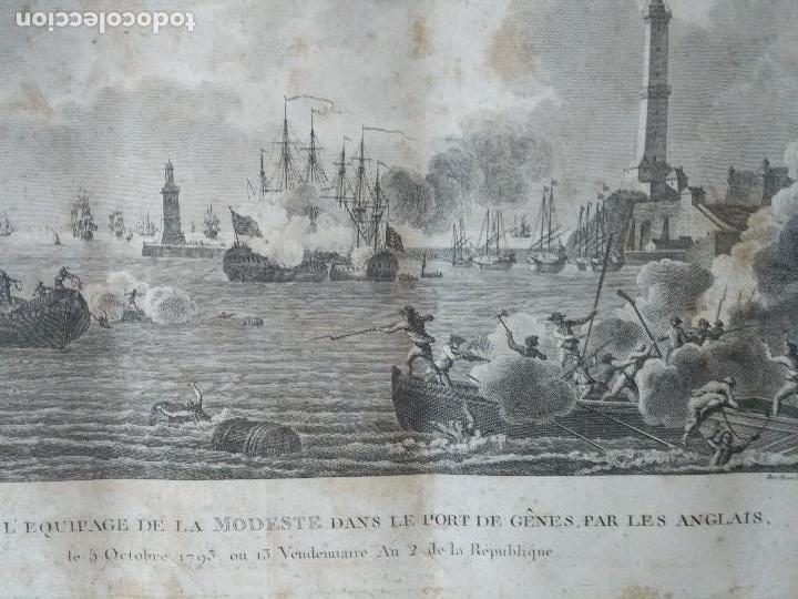 Militaria: 1793 GRABADO MASACRE DE LA TRIPULACION DE LA MODESTE PORT DE GENES PAR LES ANGLAIS FRANCIA - Foto 3 - 97878847