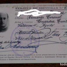 Militaria: CARNET MILITAR DE TENIENTE CORONEL DE LA GUARDIA CIVIL, MIDE 11 X 7,5 CMS.. Lote 97913987