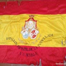 Militaria: BANDERA BATALLÓN INFANTIL SEVILLA 1925 LA BANDERA LA . Lote 97984075