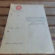 Militaria: DOCUMENTO DE FALANGE O SIMILAR CENTRAL NACIONAL SINDICALISTA AÑO 1937. Lote 98346075