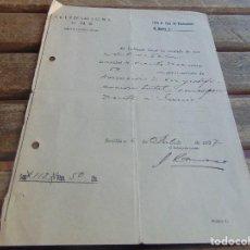 Militaria: DOCUMENTO DE FALANGE O SIMILAR RECIBO DE DONACION A SINDICATO AÑO 1937. Lote 98346391