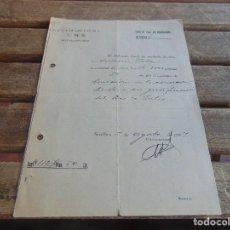 Militaria: DOCUMENTO DE FALANGE O SIMILAR RECIBO DE DONACION A SINDICATO AÑO 1937. Lote 98346455