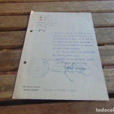 Militaria: DOCUMENTO DE FALANGE O SIMILAR DELEGACION DE LA VIEJA GUARDIA AÑO 1942. Lote 98346563
