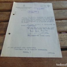 Militaria: DOCUMENTO DE FALANGE O SIMILAR SINDICATO PROVINCIAL DE PESCA AÑO 1958. Lote 98346779