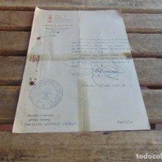 Militaria: DOCUMENTO DE FALANGE O SIMILAR DELEGACION DE LA VIEJA GUARDIA AÑO 1942. Lote 98346919