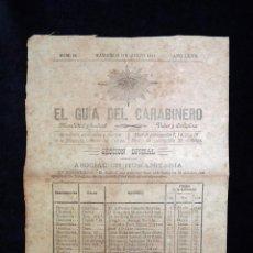 Militaria: EL GUÍA DEL CARABINERO. AÑO LXVII, Nº 26. MADRID 21 DE JULIO 1919. Lote 98361659